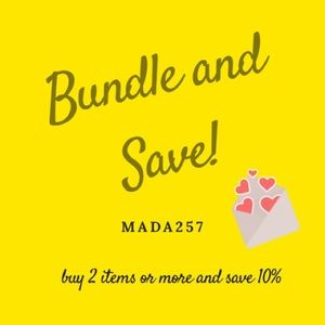 Bundle and Save on all Items!!